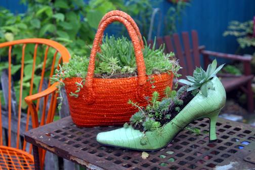 shoe-purse-planters